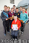 Students from CBS, The Green, Tralee, who received their Junior Cert results on Wednesday morning was in front Robbie O'Sullivan. Back l-r: Michael Creagh, Jamie Leen, Reece Sugrue, Wesley Meahan, Lucas O'Mahony, Ronan Magee and Kevin Johnson Horgan