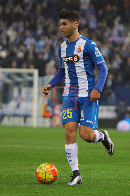 League BBVA 2015/2016 -Game: 16.<br /> RCD Espanyol vs UD Las Palmas: 1-0.<br /> Marco Asensio.