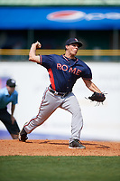 Rome Braves relief pitcher Brandon S. White (39) delivers a pitch during a game against the Lexington Legends on May 23, 2018 at Whitaker Bank Ballpark in Lexington, Kentucky.  Rome defeated Lexington 4-1.  (Mike Janes/Four Seam Images)