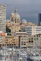 France, Bouches-du-Rhône (13), Marseille, capitale européenne de la culture 2013, le Vieux Port, la cathédrale de la Major  // France, Bouches du Rhone, Marseille, european capital of culture 2013, Vieux Port (Old Harbour), the Major Cathedral