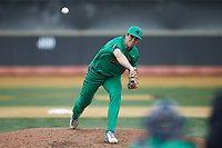 Notre Dame Fighting Irish relief pitcher Joe Boyle (46) in action against the Wake Forest Demon Deacons at David F. Couch Ballpark on March 10, 2019 in  Winston-Salem, North Carolina. The Demon Deacons defeated the Fighting Irish 7-4 in game one of a double-header.  (Brian Westerholt/Four Seam Images)