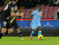 Pablo Armero  in action during the Italian Serie A soccer match between SSC Napoli and Parma FC at San Paolo stadium in Naples
