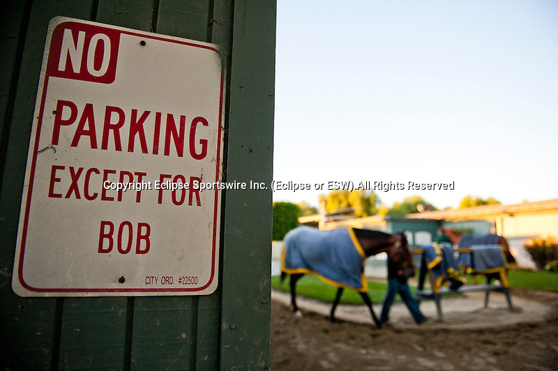 There is no doubt Barn 5 is home for Hall of Fame trainer Bob Baffert.