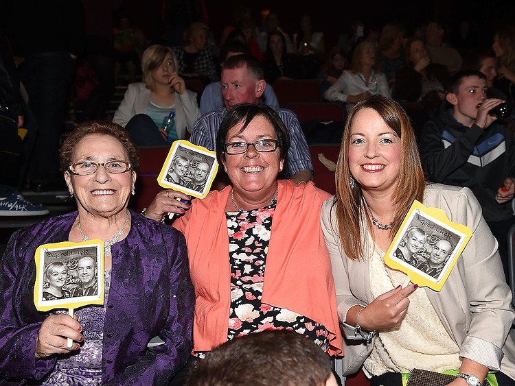Lily and June Kirk and Rachel O'Brien pictured at Naomh Fionnbarra Strictly Come Dancing in the TLT. Photo:Colin Bell/pressphotos.ie
