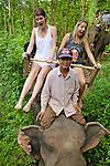 Alice & Charlotte Riding Elephant