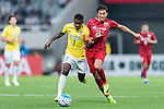 Jiangsu FC Midfielder Ramires Santos (L) fights for the ball with Shanghai FC Midfielder Akhmedov Odil (R) during the AFC Champions League 2017 Round of 16 match between Shanghai SIPG FC (CHN) vs Jiangsu FC (CHN) at the Shanghai Stadium on 24 May 2017 in Shanghai, China. Photo by Marcio Rodrigo Machado / Power Sport Images