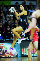 Kayla Cullen takes a pass during the Quad Series netball match between the New Zealand Silver Ferns and England Roses at Trusts Stadium, Auckland, New Zealand on Wednesday, 30 August 2017. Photo: Dave Lintott / lintottphoto.co.nz