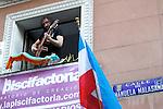 Andres Sudon during the Festival de Musica Balconica-Musica Balconica Festival in Malasana street. June 29,2012. (ALTERPHOTOS/Alconada)
