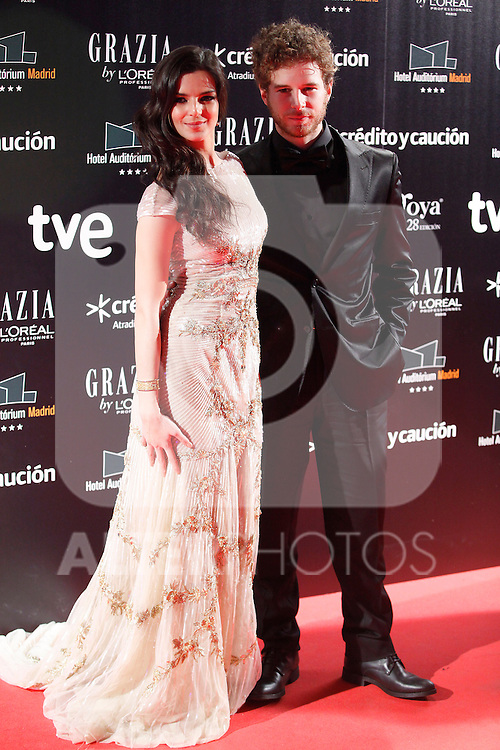 Actress Clara Lago attends Goya Cinema Awards 2014 red carpet at Centro de Congresos Principe Felipe on February 9, 2014 in Madrid, Spain. (ALTERPHOTOS/Victor Blanco)