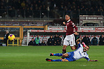 Fabio Quagliarella of Sampdoria is brought down in the penalty area by Armando Izzo of Torino FC conceding a penalty during the Serie A match at Stadio Grande Torino, Turin. Picture date: 8th February 2020. Picture credit should read: Jonathan Moscrop/Sportimage