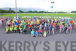 NA GAEIL CYCLE: The large group that took part in the Na Gaeil GAA fundraising family cycle on Saturday.