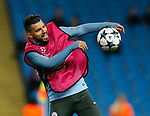 Sergio Aguero of Manchester City warms up before the Champions League Group F match at the Emirates Stadium, Manchester. Picture date: September 26th 2017. Picture credit should read: Andrew Yates/Sportimage