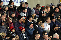 Sunday, 28 November 2012<br /> Pictured: Swansea City supporters.<br /> Re: Barclays Premier League, Swansea City FC v West Bromwich Albion at the Liberty Stadium, south Wales.