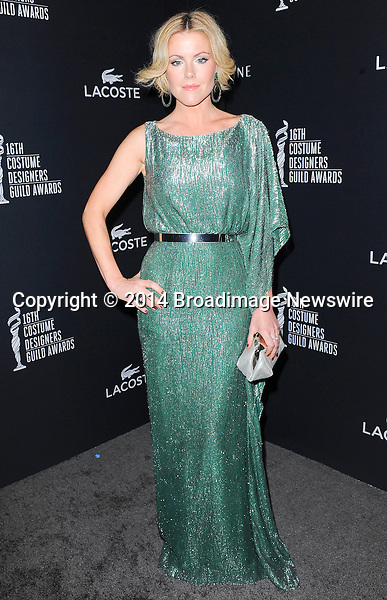 Pictured: Kathleen Robertson<br /> Mandatory Credit &copy; Adhemar Sburlati/Broadimage<br /> The 16th Costume Designers Guild Awards<br /> <br /> 2/22/14, Los Angeles, California, United States of America<br /> <br /> Broadimage Newswire<br /> Los Angeles 1+  (310) 301-1027<br /> New York      1+  (646) 827-9134<br /> sales@broadimage.com<br /> http://www.broadimage.com