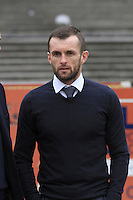 Luton Town manager Nathan Jones before the Sky Bet League 2 match between Plymouth Argyle and Luton Town at Home Park, Plymouth, England on 19 March 2016. Photo by Liam Smith.
