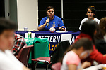 Maria Perez Robles speaks to the crowd at the La Posada Celebration at Western Nevada College, in Carson City, Nev., on Saturday, Dec. 15, 2018. <br /> Photo by Cathleen Allison/Nevada Momentum