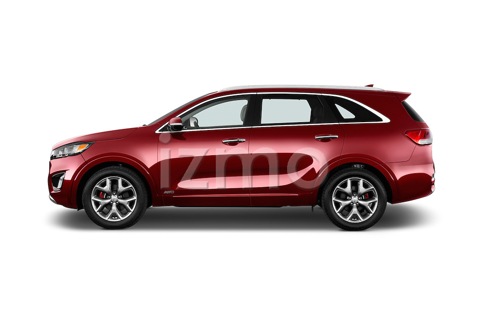 Car Driver side profile view of a 2016 KIA Sorento SX AT 5 Door SUV Side View