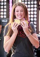 August 17, 2012  Allison Schmitt 3 time gold medalist for Olympic 2012 visit the  NBC's Today Show  at Rockefeller Center in New York City.Credit:© RW/MediaPunch Inc. /NortePhoto.com<br /> <br /> **SOLO*VENTA*EN*MEXICO**<br />  **CREDITO*OBLIGATORIO** *No*Venta*A*Terceros*<br /> *No*Sale*So*third* ***No*Se*Permite*Hacer Archivo***No*Sale*So*third*
