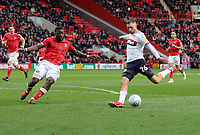 Lewis Wing of Middlesbrough shot saved by Dillon Phillips of Charlton Athletic during Charlton Athletic vs Middlesbrough, Sky Bet EFL Championship Football at The Valley on 7th March 2020