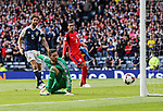 Scotland's Craig Gordon can only watch as England's opening goal goes in during the FIFA World Cup Qualifying match at Hampden Park Stadium, Glasgow Picture date 10th June 2017. Picture credit should read: David Klein/Sportimage