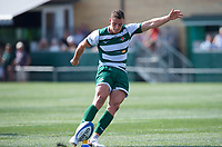 Steven Shingler of Ealing Trailfinders during the 2019/20 Pre Season Friendly match between Ealing Trailfinders and Bishop's Stortford at Castle Bar , West Ealing , England  on 24 August 2019. Photo by Alan  Stanford / PRiME Media images