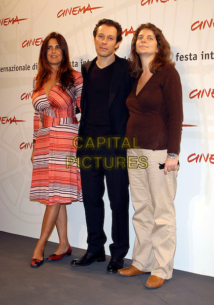 "JULIE GAVRAS, STEFANO ACCORSI & NINA KERVAL-BAY.Attend a photocall to promote the movie ""La Faute a Fidel"" on the second day of Rome Film Festival (Festa Internazionalel di Roma) Rome, Italy, .October 14th 2006..full length.Ref: CAV.www.capitalpictures.com.sales@capitalpictures.com.©Luca Cavallari/Capital Pictures."