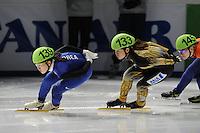 SCHAATSEN: DORDRECHT: Sportboulevard, Korean Air ISU World Cup Finale, 10-02-2012, Dam Min Kim KOR (139), Yasuko Sakashita JPN (133), ©foto: Martin de Jong