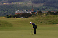 Euphemie Rhodes (Burnham & Berrow) on the 1st green during Round 1 of the Women's Amateur Championship at Royal County Down Golf Club in Newcastle Co. Down on Tuesday 11th June 2019.<br /> Picture:  Thos Caffrey / www.golffile.ie<br /> <br /> All photos usage must carry mandatory copyright credit (© Golffile | Thos Caffrey)