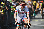 Dan Martin (IRL) UAE Team Emirates arrives at sign on before Stage 4 of the 2019 Tour de France running 213.5km from Reims to Nancy, France. 9th July 2019.<br /> Picture: ASO/Pauline Ballet | Cyclefile<br /> All photos usage must carry mandatory copyright credit (© Cyclefile | ASO/Pauline Ballet)