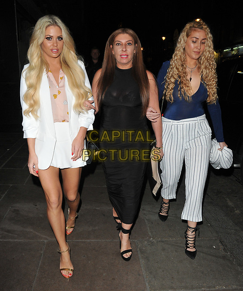 Bianca Gascoigne and guests at the YOSHIAKI by DSTRKT restaurant launch party, DSTRKT, Rupert Street, London, England, UK, on Tuesday 28 March 2017.<br /> CAP/CAN<br /> &copy;CAN/Capital Pictures