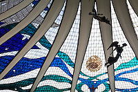 Brasilia_DF, Brasil...Detalhe dos anjos da Catedral Metropolitana Nossa Senhora Aparecida ou Catedral de Brasilia, localizada na Esplanada dos Ministerios. ..Agels detail of the Catedral Metropolitana Nossa Senhora Aparecida or Catedral de Brasilia, located in Esplanada dos Ministerios...Foto: JOAO MARCOS ROSA / NITRO