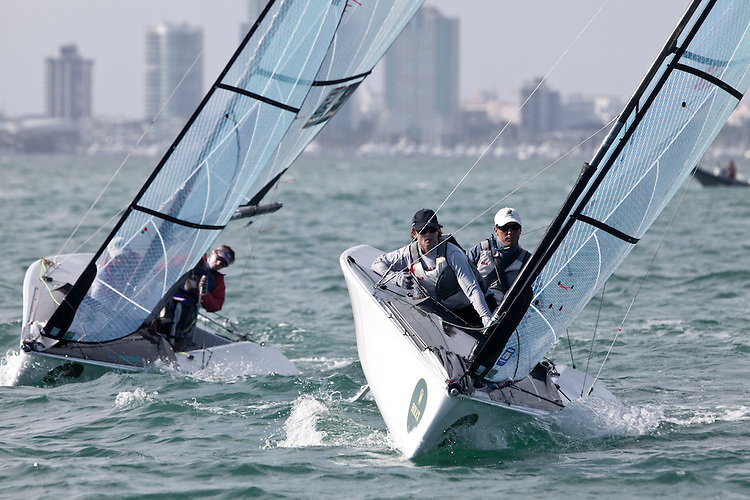 AUS047, Fleet: SKUD-18, Crew: Daniel Fitzgibbon, Liesl Tesch,  , Country: AUS.USA051, Fleet: SKUD-18, Crew: Jennifer French, Jean-Paul Creignou, Country: USA