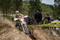 Honduras's  Mauricios Castillo during the second day World trophy class of the FIM international six days of enduro 2016 in Navarra, Spain. October 11, 2016. (ALTERPHOTOS/Rodrigo Jimenez) NORTEPHOTO.COM