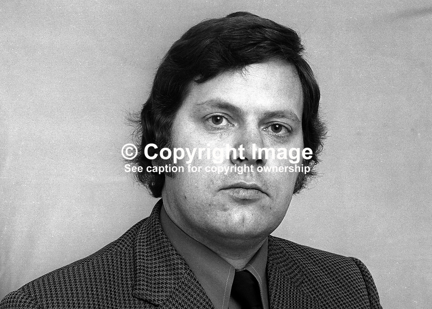 Keith Jones, Alliance Party, candidate, North Belfast, NI Assembly Election, June, 1973, 197305000317<br />
