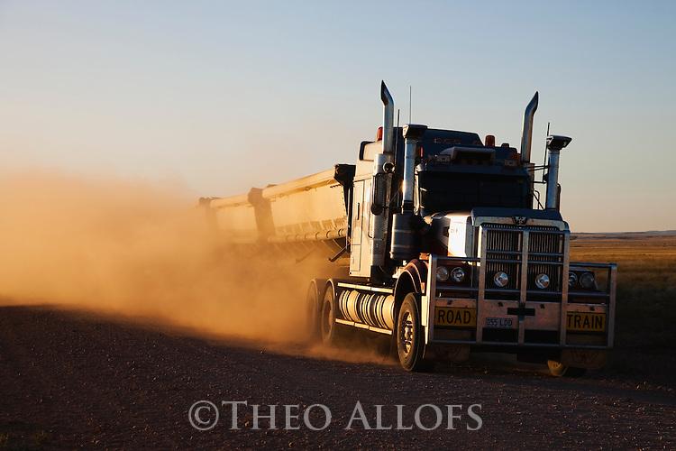 Australia,  Queensland; road train (truck)