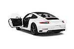 Car images close up view of a 2018 Porsche 911 Carrera 2 Door Coupe doors