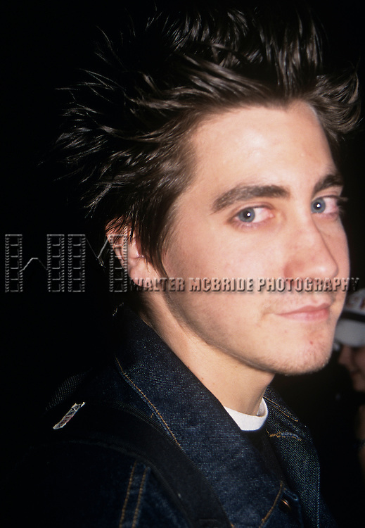"Jake Gyllenhaal pictured at ""Saturday Night Live"" in New York City on May 15, 1999."
