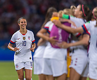 PARIS,  - JUNE 28: Carli Lloyd #10 celebrates with teammates during a game between France and USWNT at Parc des Princes on June 28, 2019 in Paris, France.