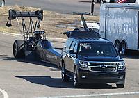 Feb 23, 2019; Chandler, AZ, USA; NHRA top fuel driver Mike Salinas during qualifying for the Arizona Nationals at Wild Horse Pass Motorsports Park. Mandatory Credit: Mark J. Rebilas-USA TODAY Sports