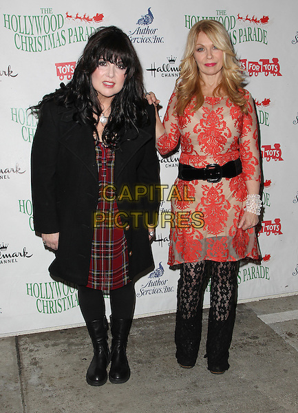 Hollywood, CA - November 30: Ann Wilson, Nancy Wilson Of Heart Attending 83rd Annual Hollywood Christmas Parade At Hollywood Blvd California on November 30, 2014.  <br /> CAP/MPI/RTNUPA<br /> &copy;RTNUPA/MediaPunch/Capital Pictures