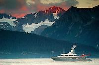 The yacht Triton in Resurrection Bay, Seward, Alaska.