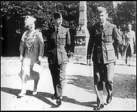 BNPS.co.uk (01202 558833)<br /> Pic: LaidlawAuctioneers/BNPS<br /> <br /> Air Chief Marshall Hugh Dowding (right) with the King and Queen.<br /> <br /> Controversial policy to abandon France revealed in  RAF chiefs letter from 16th May 1940.<br /> <br /> A historically significant letter penned by Air Chief Marshal Hugh Dowding outlining the case for 'sacrificing' France to allow Britain to better defend itself from a Nazi invasion has emerged for sale at auction.<br /> <br /> The head of Fighter Command state's 'not one extra fighter' should be deployed to help their beleaguered ally across the channel 'however urgent and insistent the appeals for help may be'.<br /> <br /> And he chillingly concludes that diverting more resources  would cause the 'final, complete and irremediable defeat of this country' in World War Two.<br /> <br /> Although subsequent events in the Battle of Britain fully vindicated Dowdings decision the policy still rankles with some French historians to this day.