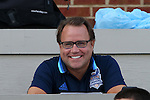 28 August 2016: Broadcaster Dean Linke. The University of North Carolina Tar Heels hosted the Saint Louis University Billikens at Fetter Field in Chapel Hill, North Carolina in a 2016 NCAA Division I Men's Soccer match. UNC won the game 3-0.