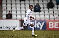 Tariq Hinds of Spurs U19 during the UEFA Youth League round of 16 match between Tottenham Hotspur U19 and Monaco at Lamex Stadium, Stevenage, England on 21 February 2018. Photo by Andy Rowland.