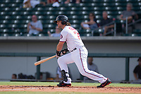 Mesa Solar Sox Taylor Gushue (75), of the Washington Nationals organization, at bat during a game against the Salt River Rafters on October 18, 2017 at Sloan Park in Mesa, Arizona. The Rafters defeated the Solar Sox 6-5.(Zachary Lucy/Four Seam Images)