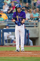 Tulsa Drillers second baseman Trevor Story (3) readies himself to bat during the Texas League game against the Frisco RoughRiders at ONEOK field on August 15, 2014 in Tulsa, Oklahoma  The RoughRiders defeated the Drillers 8-2.  (William Purnell/Four Seam Images)