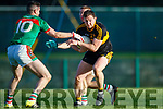 Daithi Casey  Dr Crokes in action against Niall Hickey Kilmurry Ibrickane in the Munster Senior Club Championship Semi Final at Lewis Road, Killarney on Sunday.