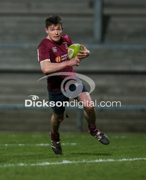 Tuesday 7th January 2020 | MMW Junior Cup Final<br /> <br /> James Ferguson scores Enniskillen's first try during the Millar McCall Wylie Junior Cup Final between Armagh 2s and Enniskillen at Kingspan Stadium, Ravenhill Park, Belfast, Northern Ireland. Photo by John Dickson / DICKSONDIGITAL