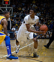 Tyrone Wallace of California in action during the game against CSUB at Haas Pavilion in Berkeley, California on November 11th, 2012.  California defeated CSUB, 78-65.