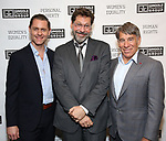 "Michael McCorry Rose, David Staller and Stephen Schwartz attends the Opening Night of The Gingold Theatrical Group production of Bernard Shaw's ""Caesar & Cleopatra"" at Theatre Row Theatre on September 24, 2019 in New York City."